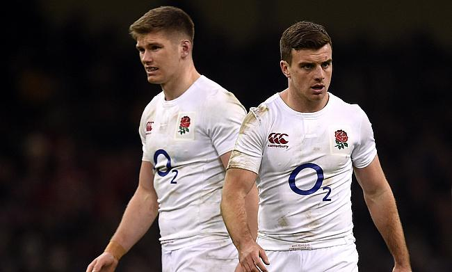 Owen Farrell (left) and George Ford led England to victory