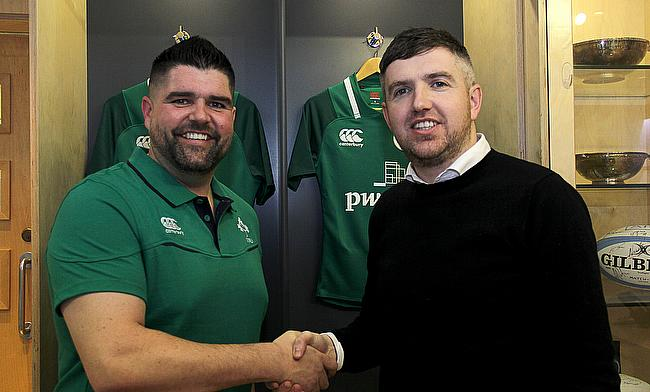 From left, Nick Winkelman, IRFU's Head of Performance & Science, and Sean O'Connor, CCO and Co-founder of STATSports.