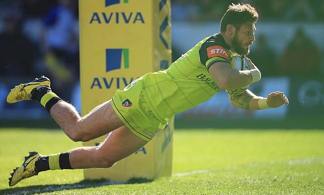 Adam Thompstone scored Leicester's final try in the win over Harlequins