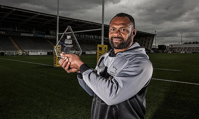 Vereniki Goneva has been named Aviva Premiership Rugby Player of the Month for April 2018.
