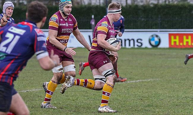 Hallam in action for National 2 North side Sedgley Park