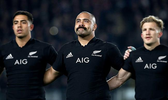 Karl Tu'inukuafe (centre) made his debut for All Blacks during June series against France