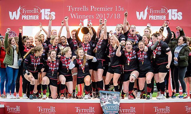 Saracens Women winning the inaugural Tyrrells Premier 15s