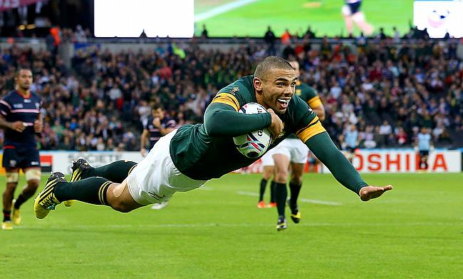 Bryan Habana scored eight tries during the 2007 World Cup