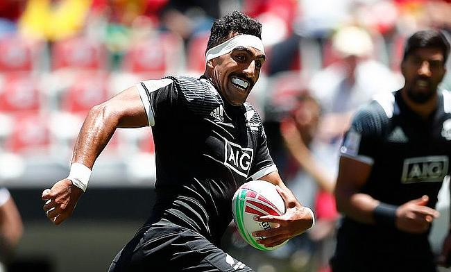 New Zealand's Amanaki Nicole in action during the Cape Town 7s