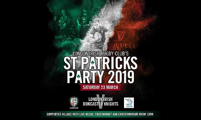 Win tickets to London Irish's St Patrick's Party Game