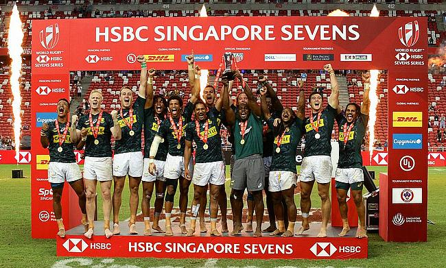 South Africa winning the Singapore 7s