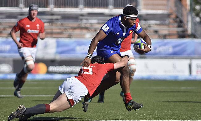 France hooker Rayne Barka in action against Wales