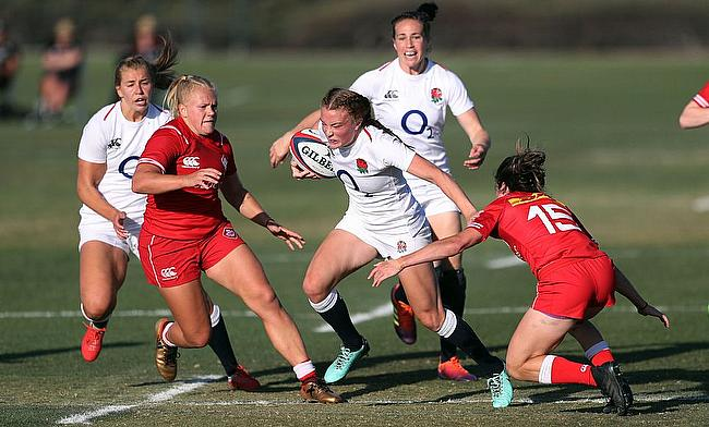 England Women completed a 17-19 win over Canada in the third round of the Women's Super Series