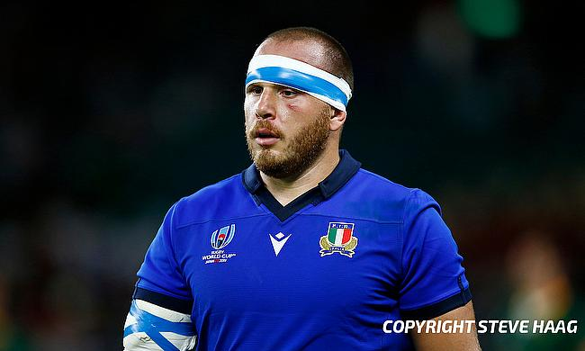 Andrea Lovotti	was red-carded during the game against South Africa