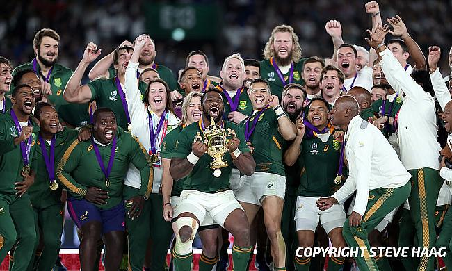 South Africa celebrating their 2019 World Cup triumph
