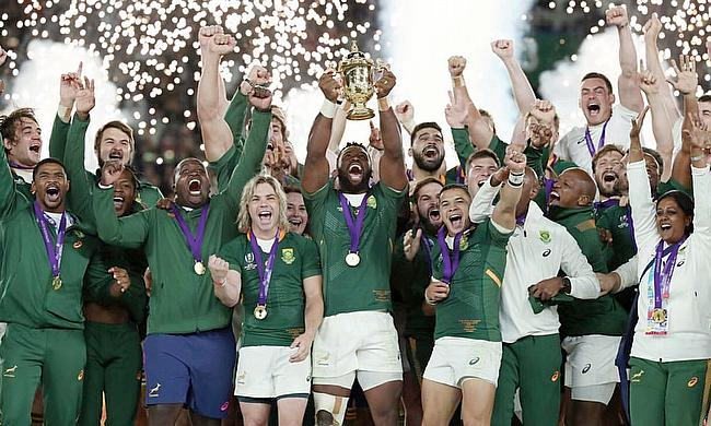 South Africa lifted their third Rugby World Cup title