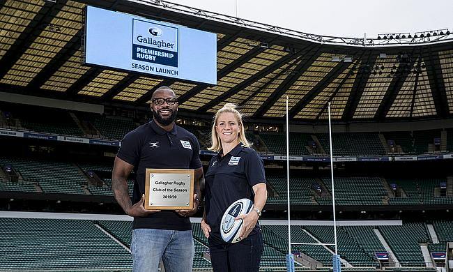 Rugby legends and Gallagher ambassadors Ugo Monye (left) and Danielle Waterman will be part of the judging panel