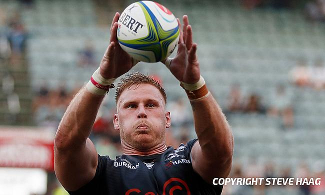 Jean-Luc du Preez was red-carded during the game against Worcester