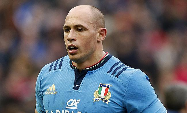 Sergio Parisse	was the lone-try scorer in the game
