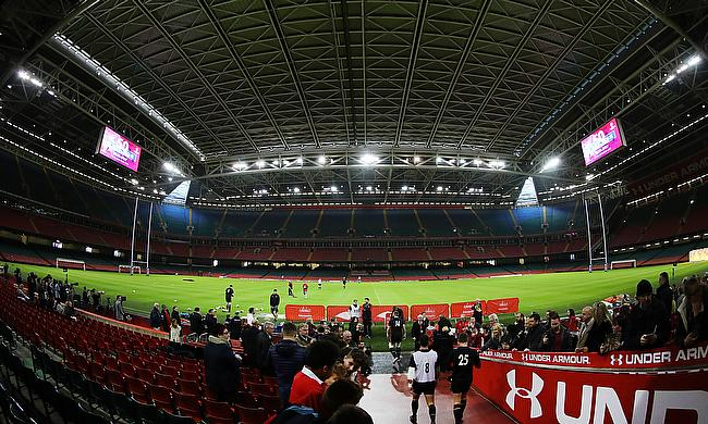The Principality Stadium was converted into a temporary hospital